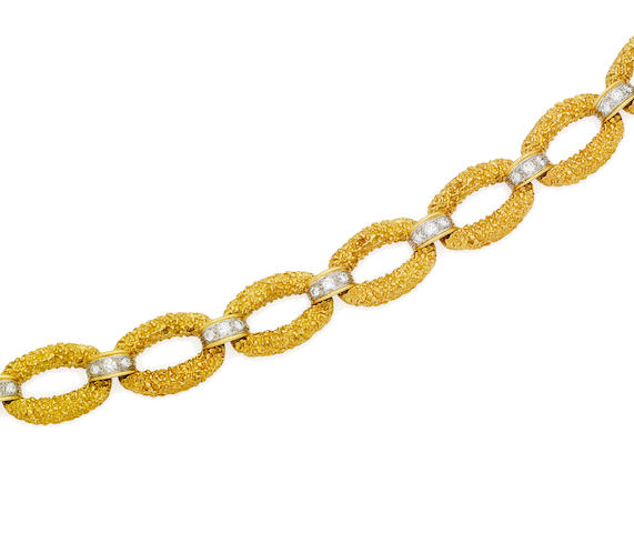 A diamond-set bracelet, by McTeigue,