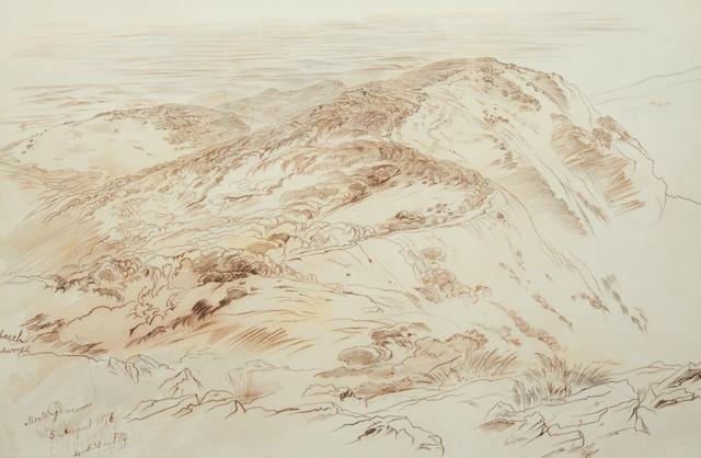 Edward Lear (British, 1812-1888) Monte Generoso