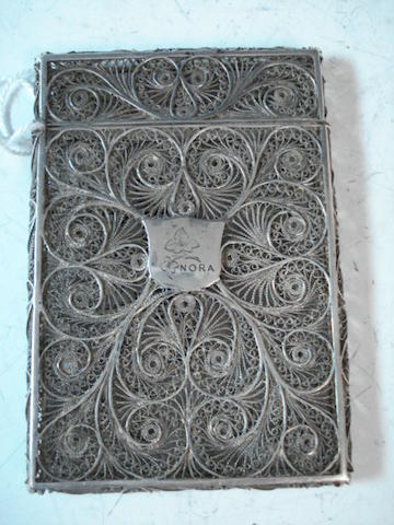 a filigree card case 'Nora'