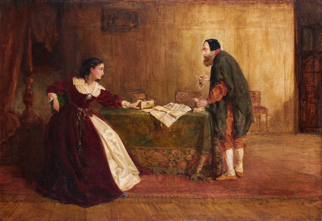 Thomas Gray (British, 19th Century) Jessica and Shylock
