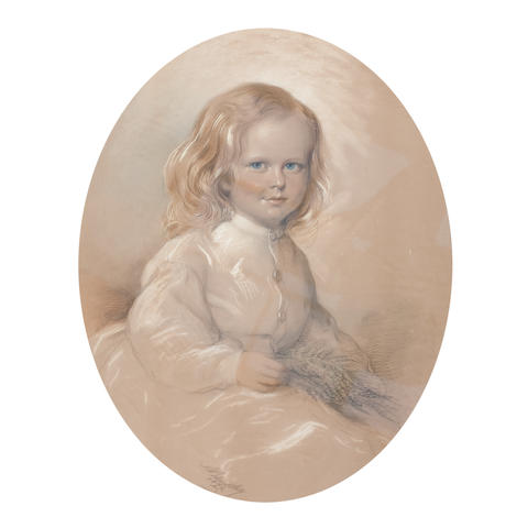 A. Blackley, 19th century Portrait of a young girl