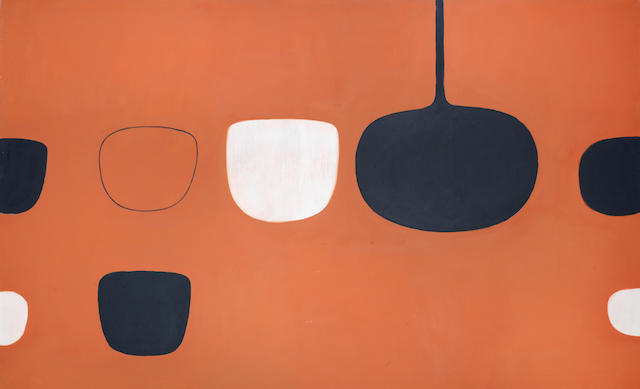 William Scott R.A. (British, 1913-1989) Brown Scheme (1970) 122 x 198 cm. (48 x 78 in.) (unframed)