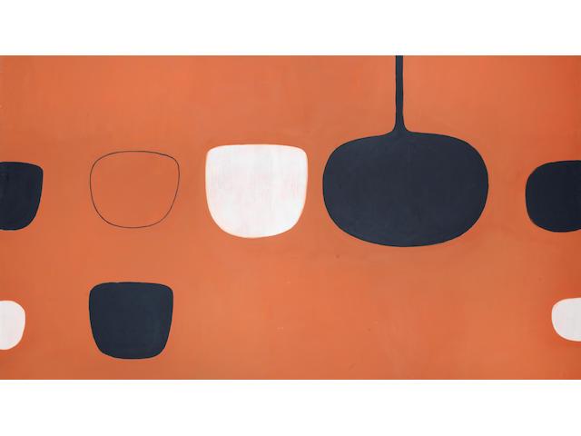 William Scott R.A. (British, 1913-1989) Brown Scheme (1970) 122 x 198 cm. (48 x 78 in.) (unframed)