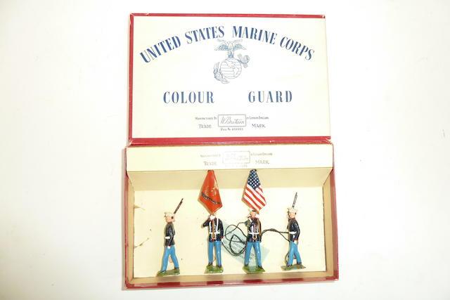 Britains set 2101, U.S.Marines Colour Guard, 40