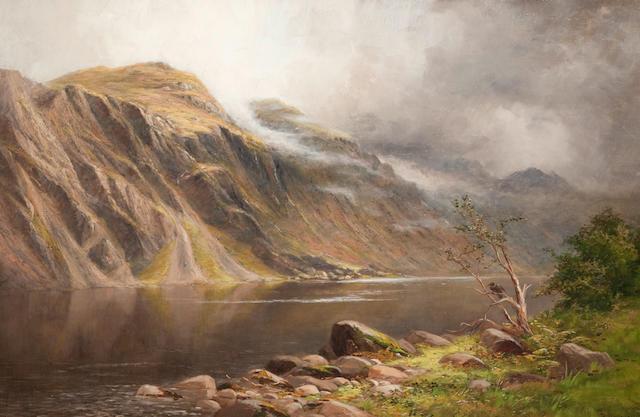 Robert Brydall (British, 1839-1907) By a Scottish Loch