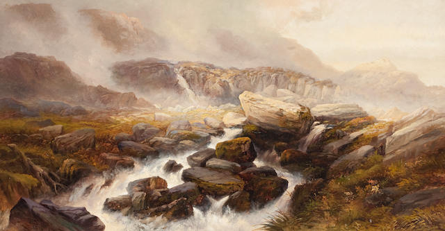 Frederick T. Sibley (British, 19th century) A Mountain Torrent