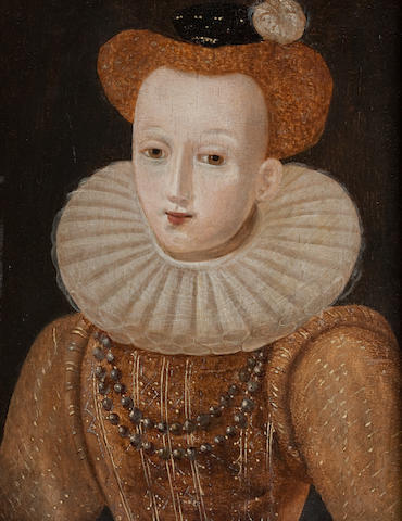 British School (17th Century) Portrait of Lady,
