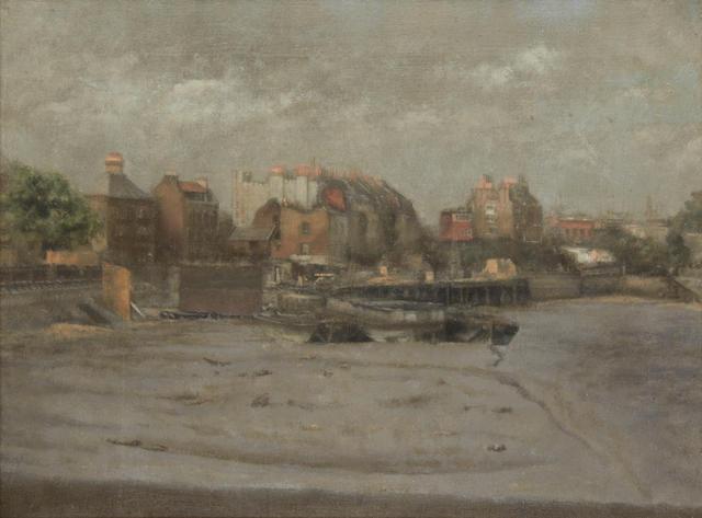 Paul Maitland (British, 1863-1909) Cheyne Walk, Afternoon 30.5 x 40.5 cm. (12 x 16 in.)