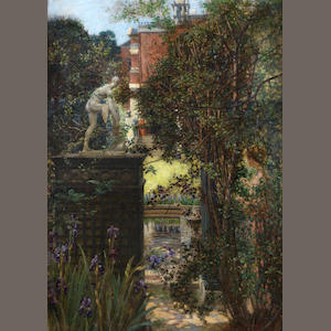 Edith Corbet (British, 1846-1920) A London garden