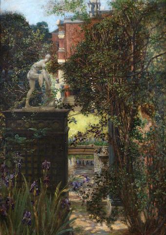 Edith Corbet (British, 1846-1920) A London garden