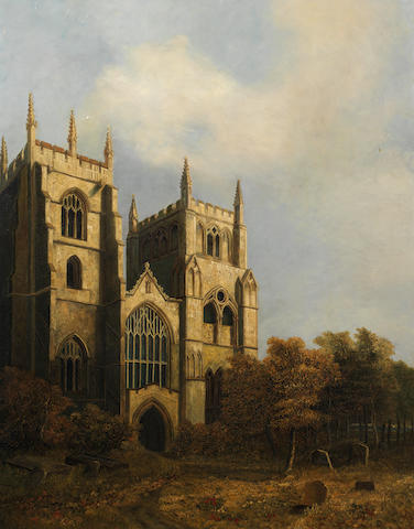 David Hodgson (British, 1798-1864) St. Margaret's Church Lynn