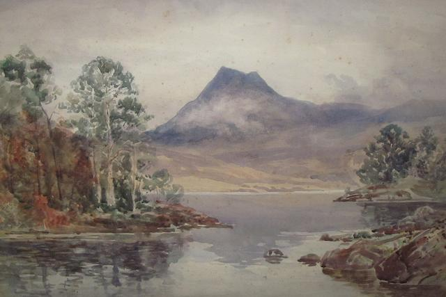 Finlay MacKinnon (1865-1935) A pair of Loch Maree 36cm x 52cm.