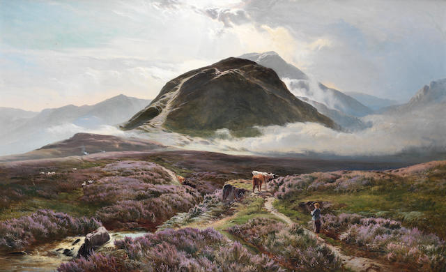 Sidney Richard Percy (British, 1821-1886) Carn Dearg and Ben Nevis from Achintee