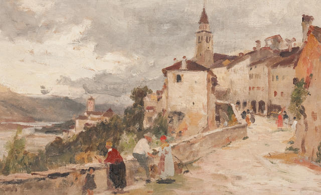 James Aumonier, R.I. (British, 1832-1911) Belluno Venetio