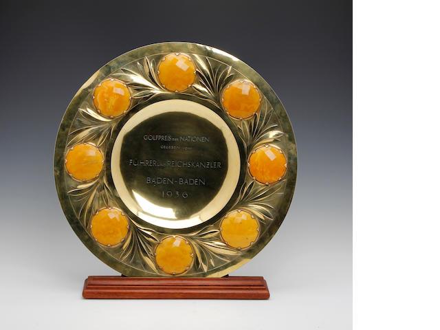 A large 1936 silver-gilt salver 'Grosser Golfpreis'