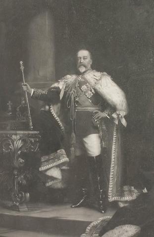After Sir Luke Fildes  George V signed by George V