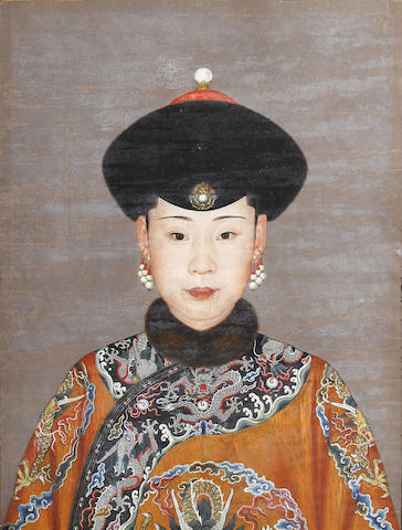 An Imperial portrait of Consort Chunhui Attributed to Giuseppe Castiglione, Qianlong period
