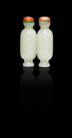 A white nephrite double vase Mid Qing dynasty