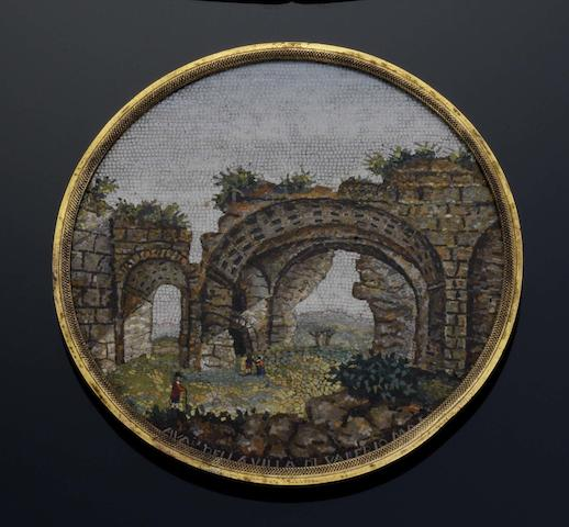 An early 19th century micromosaic panel,