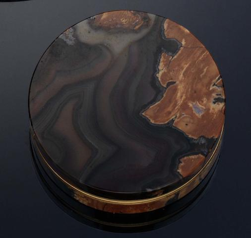 An early 19th century agate and gold mounted bonbonniere By Giacomo Sirletti, Rome circa 1820