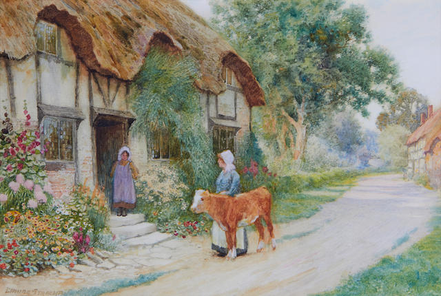 Arthur Claude Strachan (British, 1865-1938) The new calf