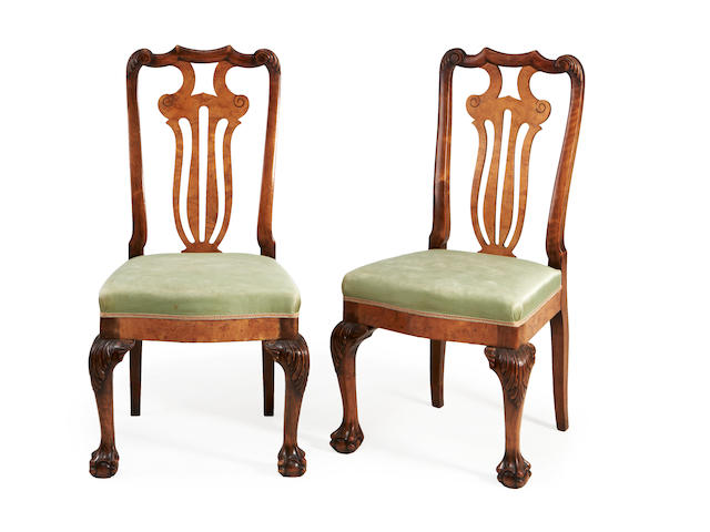 A set of six dining chairs-possibly Portuguese