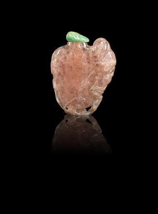 A tourmaline 'Liu Hai' snuff bottle Mid Qing dynasty