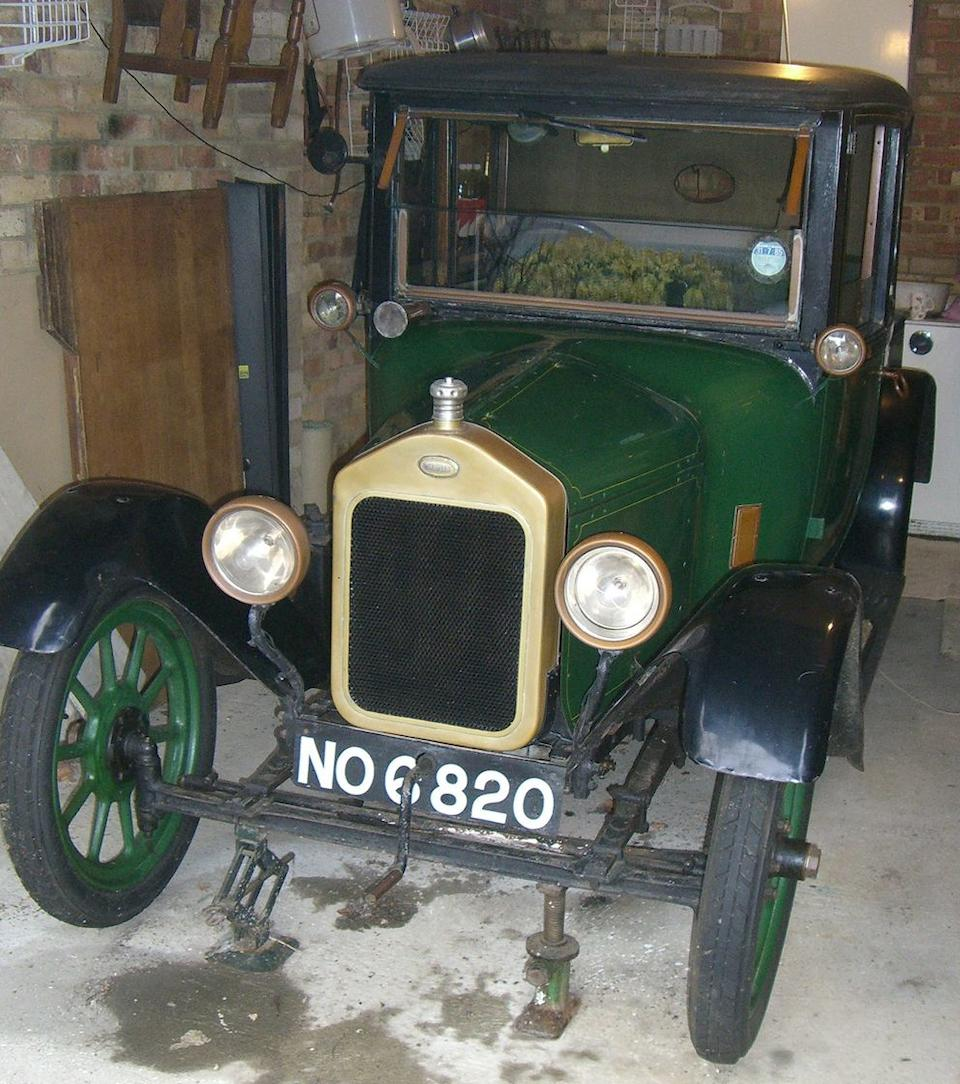 1922 Wolseley 10hp Doctor's Coupé  Chassis no. 32413 Engine no. 4783/2657