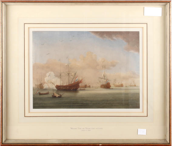 Manner of Willem van de Velde  (III) A Naval engagement