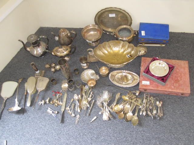 A large quantity of silver plate