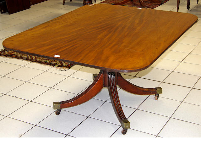 A Regency mahogany breakfast table,