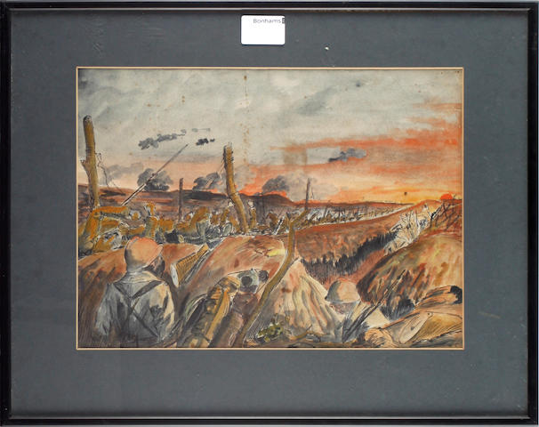 A pair of 1st world war trench scenes