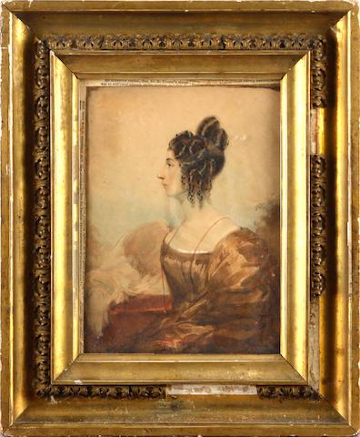 English School, 19th Century, Portrait of a lady
