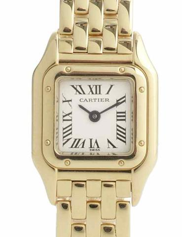 Cartier. A lady's 18ct gold quartz bracelet watch Panthere, Ref:1130/1, Case No.C8489, Recent