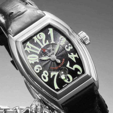 Franck Muller. A lady's stainless steel automatic calendar wristwatch Conquistador, No.930, Case No.8001 L SC, Recent