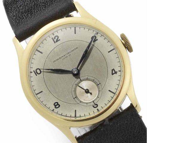 Vacheron & Constantin. An 18ct gold manual wind wristwatch Movement No.418775, Case No.262555, London Import Mark for 1937