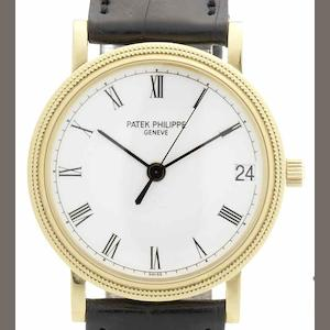 Patek Philippe. A fine 18ct gold automatic centre seconds calendar wristwatch Ref:3802/200, Movement No.3252116, Case No.4205109, Sold 16th November 2009