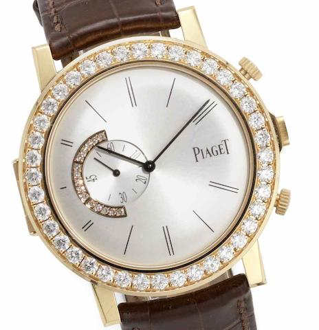 Piaget. An 18ct rose gold diamond set dual dial manual wind limited edition wristwatch Altiplano 'Double Jeu', GOA32151, No.43/50, Sold 16th July 2007