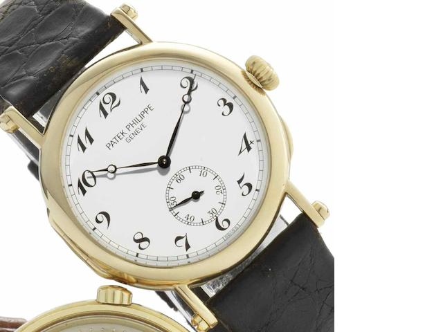 Patek Philippe. A fine 18ct gold manual wind wristwatch 'Anniversary Edition,' Ref:3960, Movement No.768905, Case No.2863817, Made in 1989