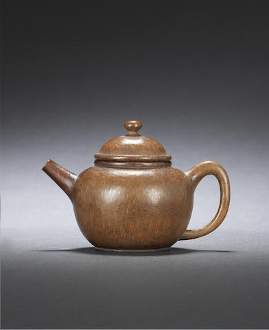 A bamboo teapot-shaped water dropper Qing dynasty