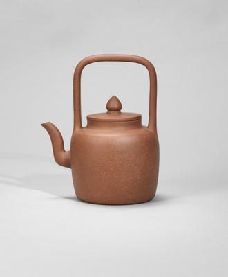 An Yixing stoneware teapot and cover Ming dynasty