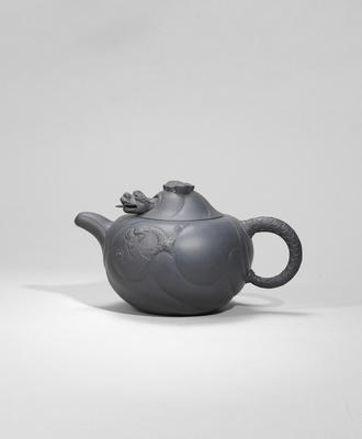 An Yixing stoneware 'dragon' teapot and cover Republican period, signed Kai Xiang