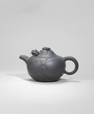 An Yixing stoneware 'dragon' teapot and cover Republican period, signed Kai Xiang