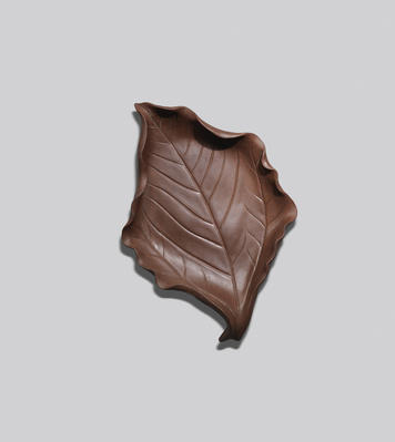 An Yixing stoneware 'leaf' dish Contemporary, signed Jiang Rong