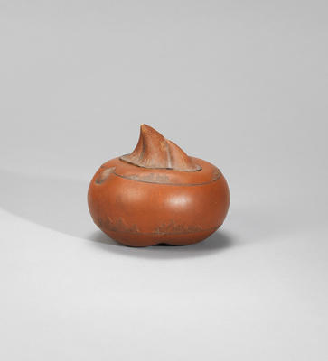 An Yixing stoneware chestnut Contemporary, signed Jiang Rong