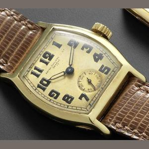Patek Philippe. An 18ct gold manual wind wristwatch Case No.604836, Movement No.811246, Circa 1927