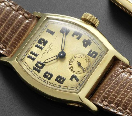 Patek Philippe. An 18ct gold manual wind wristwatch Case No.604836, Movement No.811246, Circa 1927