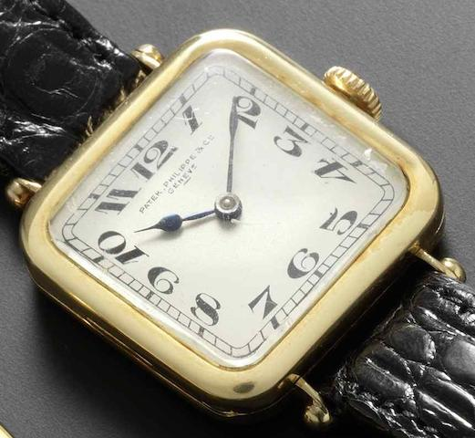 Patek Philippe. An 18ct gold manual wind wristwatchCase No.284390, Movement No.176684, Circa 1920