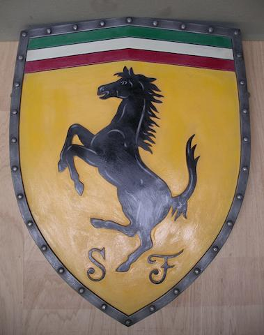 A 'Ferrari' garage display shield,