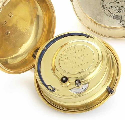 Mudge and Dutton. An 18ct gold pair case pocket watchLondon Hallmark for 1773
